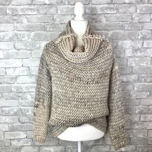 Elsamanda Italy Chunky Open Knit Cowlneck Sweater